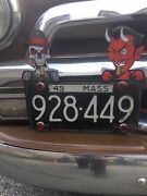 License Plate Toppers Skull And Red Devil Car Candy Car Jewelry Hot Rod Rat Rod