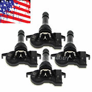 4x 40700-4cb0a Tpms Tire Pressure Sensor 433 Mhz For 16-17 Nissan Rogue Snap In