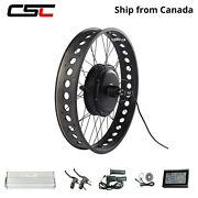 26'' Fat Bicycle Conversion Ebike Kit 48v 1500w 190mm Dropout Ship From Canada