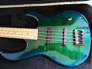 Carvin Usa Electric Bass Guitar Pristine Condition Flamed Dragon Burst Maple