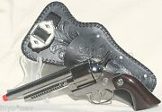 Spanish Metal Cap Gun And Holster Brand New High Quality Set With Belt 10012