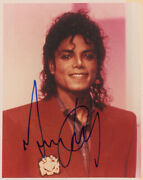 Michael Jackson Autographed Signed Photo Beckett Certified