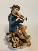 Porcelain Of Capodimonte. The Poor Violinista. Craft D' Other Stroke