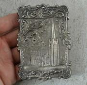 Antique Ganymede And The Eagle Solid Silver Castle Top Card Case And Box