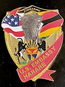 Msg-d Marine Security Guard Detachment Harare Zimbabwe Challenge Coin
