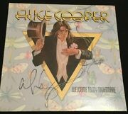Alice Cooper Band Signed Autograph Lp Vinyl Record Welcome To My Nightmare