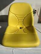 Yellow Lawn Tractor Rider Replacement Seat For John Deere Am140435 Am136647