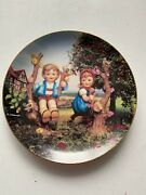 """M.i. Hummel Plate Collection """"apple Tree Boy And Girl"""" 1990s Little Plate"""