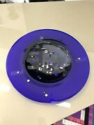 Large 1994 Memphis Style Glass Charger Plate