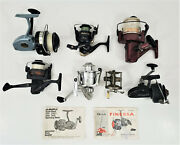 Shakespeare / South Bend / Zebco Quantum / Finessa Fishing Reels Mixed Lot Of 7