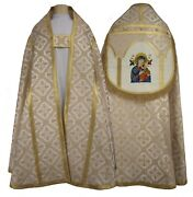 Marian Cream Roman Cope With Stole Our Lady Of Perpetual Help Kr4-ak50 Piviale