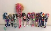 Monster High Lot Of 11 Dolls With Original Clothes And Shoes - Jellington 17andrdquo Tall