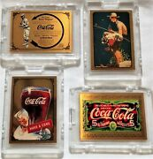 Coca Cola Set Of 4 Gold Cards All With 400 Serial Number Series 134and Sp