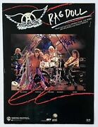 Aerosmith Autograph In-person Group Signed Rag Doll Sheet Music X5 Jsa Authent