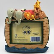 Jim Shore Designs Noah's Ark Picture Frame Nursery Baby Photo Ss And Crew W/ Box