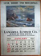 Manchester, Nh 1924 Advertising Calendar/giant 36x48 Poster-lumber-new Hampshire