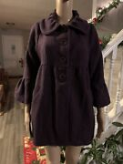 Womens Ladies Jackets Coats Size M Lot Of 2 Black/purple Forever 21-chime