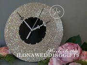 Unique Bling Sparkle Silent Wall Clock Elegant Luxury Exclusive Gift
