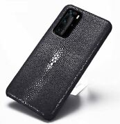 Genuine Stingray Skin Leather Cover For Huawei P40 Pro Plus + P40 Pro Phone Case