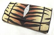 Clutch Stingray Wallets Skin Leather Trifold Tiger Color Women's Wallets Genuine