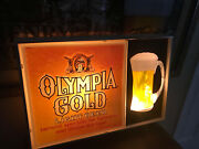 Vintage Olympia Beer Bar Sign Light Up Excellent Condition Rare 1960's