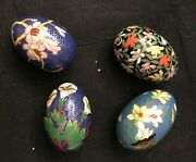 Pre-owned 4 Cloisonne' Eggs