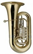 Stagg Bb Brass Tuba With 4 Rotary Valves And Hard Case - Lv-bt5705