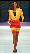 Vintage Gianni Versace Couture Skirt Suitlinen And Silkmade In Italy