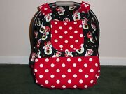Minnie Mouseinsulated Fitted W/peekaboo Handmade Car Seat Canopy-cover