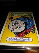 Garbage Pail Kids 35th Anniversary Sketch Card Quinton Baker 🔥 1/1