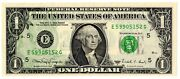 1988a 1 Dollar Bill Offset Print Error Note Currency Paper Money