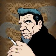 Johnny Cash By Anthony Parisi Limited Edition Print