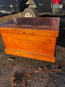 Wow Stunning Vintage Hand Crafted Tool Chest Americana Folk Art 39.5/27.5/23andrdquo