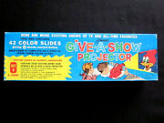 1961 Kenner Give A Show Projector Woody Woodpecker Color Slides Set C Box