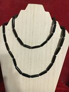 Vintage Antique Early 20th To Mid Century Hawaiian Black Coral Strung Necklace