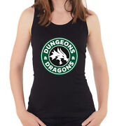 Dungeons And Dragons Starbucks Coffee Style Womenand039s Sleeveless Tank Top T Shirt