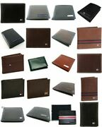 Menand039s Leather Designer Wallets Assorted Wholesale Lot