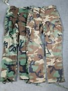 Lot Of 2 Usgi Woodland Camouflage Bdu Pants / Trousers Small Regular 799