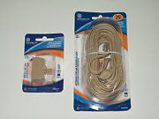 Atandt 25' Extension Phone Cord And Triplex 2-line Jack And Free Car Baby Wireless