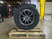 20x9 Fuel D680 Rebel Gray Wheels 32 Amp At Tires Package 5x150 Toyota Tundra