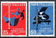 Italy 761-762 Mlh. Prix Italia Radio And Television Competitions 10th Ann.1958