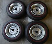 Triumph Tr6 Show Car Wheels Tires Trim Rings Centers And Lugs Important Read