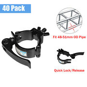 40pack 2'' Dj Stage Lighting Clamps 220 Lbs Quick Release, Quick Lock Truss Hook