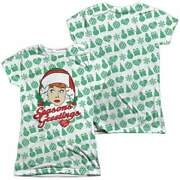 I Love Lucy Holiday Pattern Juniors All Over Print T-shirt