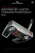 Scotty Cameron Inspired By Justin Thomas Phantom X 5.5 Limited Edition Putter