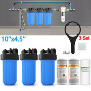 Big Blue 3 Stage Whole House System Water Filter 10 Sediment And Carbon Sets