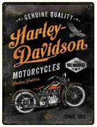 A3 Retro Tin Embossed Sign Harley Davidson Motorcycles Timeless Licensed 30x40cm