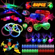 82pcs Led Light Up Toys Glow In The Dark Kids Adults Party Supplies Fun Gift