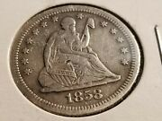 1858 S Seated Liberty Silver Quarter, Full Date/liberty, Tough Date Inv11 D1106