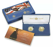 400th Anniversary Of The Mayflower Voyage Two-coin Gold Proof Set 20xa In Hand